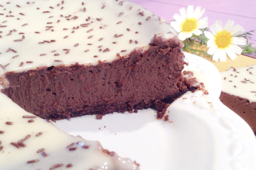 Cheesecake de chocolate e laranja