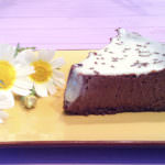 Cheesecake de laranja e chocolate