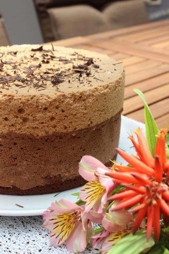 Bolo Mousse de Chocolate Café e Amaretto